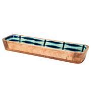 Travessa de madeira Leafage azul 38 cm