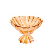 Centro de mesa de cristal Paradise âmbar com pé 19 cm