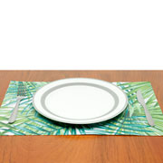 Lugar americano retangular Palm verde 45x30 cm