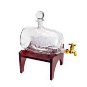 Garrafa para whisky de vidro com suporte 1 litro