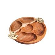 Pestisqueira de madeira costela de adão 25 cm