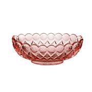 Centro de mesa decorativo de cristal angel rosa 28 cm