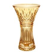 Vaso de cristal decorativo lys âmbar 30 cm