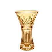 Vaso de cristal decorativo lys âmbar 24 cm