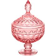 Potiche de cristal angel roxo com pé 24 cm