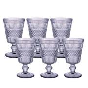 Jogo de taças para água Geometric Azul 250 ml 06 peças
