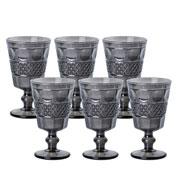 Jogo de taças para água Geometric Cinza 250 ml 06 peças