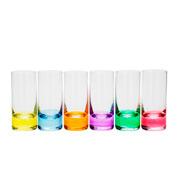 Jogo de copos de vidro para shot colors 65 ml 06 peças