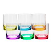 Jogo de copos de vidro para whisky colors 06 peças