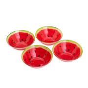 Conjunto de Bowls de vidro Melancia 04 peças