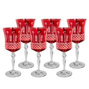 Jogo 06 taças de cristal para vinho ruby 300 ml