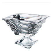 Centro de mesa de cristal com pé casablanca 24x19 cm