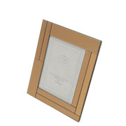 Porta retrato de vidro espelhado rose 10x15 cm