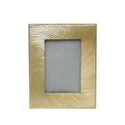 Porta retrato de poliresina dourado 10x15 cm