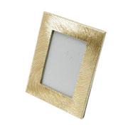 Porta retrato de poliresina dourado 13x18 cm