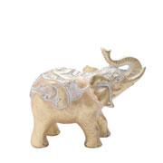 Enfeite em poliresina Elefante dourado 16 cm