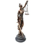 Enfeite de resina Dama da justiça 53 cm