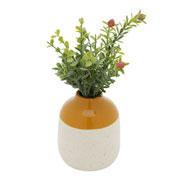 Vaso de cerâmica granilite branco 10x12 cm