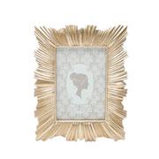 Porta retrato de resina dourado 10x15 cm