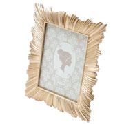 Porta retrato de resina dourado 13x18 cm