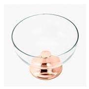 Centro de mesa com base de aço rialto 30x22 cm