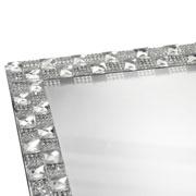 Suporte espelhado multiuso prateado 33x20x01 cm