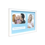 Porta retrato Baby primeiros momentos azul 02 fotos