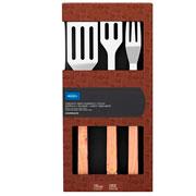 Conjunto para churrasco madeira 03 peças