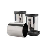 Conjunto de potes mantimentos preto 03 peças - Brinox