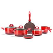 Jogo de Panelas Ceramic Life Smart Plus vermelho 06 peças