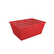 Cesta Maxi multiuso vermelho bold 38x28 cm - Coza