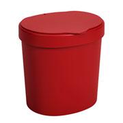 Lixeira Basic vermelha 2.5 Litros - Coza