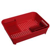 Escorredor de louça vermelho bold Basic - Coza