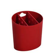 Porta talheres vermelho bold Basic - Coza