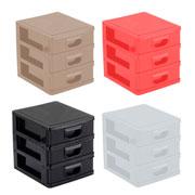Micro porta tudo texturizado colors 3 gavetas