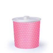 Lixeira redonda poa rosa 3 litros
