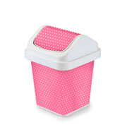 Lixeira basculante poa rosa 3 litros