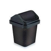 Lixeira basculante poa preta 3 litros