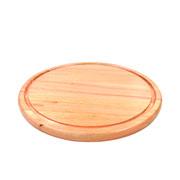 Tábua redonda de madeira para churrasco 34 cm