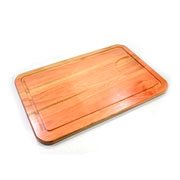 Tábua de madeira retangular para churrasco 48 cm