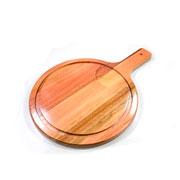 Tábua de madeira redonda com cabo 47 cm