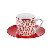 Jogo de xícara de porcelana para café mosaic 90 ml 12 peças