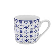 Jogo de xícara de porcelana para café majestic 90 ml 12 peças