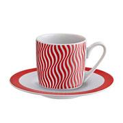 Jogo de xícara porecelana para café wave 12 peças