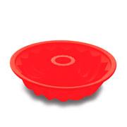 Forma de silicone para bolo vermelha 25x07 cm - Hauskraft