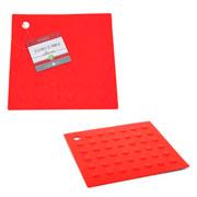 Descanso de panela quadrado vermelho hauskraft 17 cm