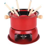 Conjunto para fondue vermelho 11 peças