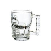 Jogo de Caneca de vidro Caveira 460 ml 06 peças