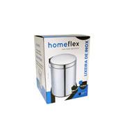 Lixeira com pedal em inox 5 litros - homeflex