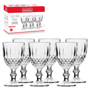 Jogo de taças de vidro para vinho Empire 360 ml 06 peças